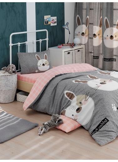 Eponj Home Kolay Ütülenir Nevresim Takımı Tek Kişilik Tavşancık Renkli
